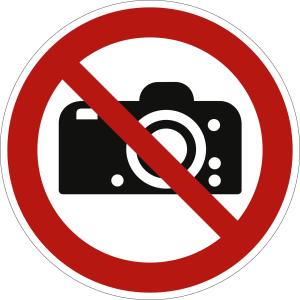 Fotografieren verboten nach ISO 7010 (P 029)
