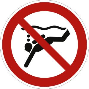 Geräte-Tauchen verboten nach ISO 20712-1 (WSP 004)