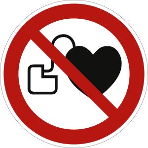 Kein Zutritt für Personen mit Herzschrittmachern oder implantierten Defibrillatoren nach ISO 7010 (P 007)