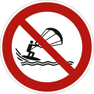 Kitesurfen verboten nach ISO 20712-1 (WSP 018)