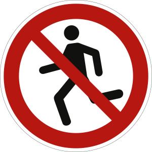Laufen verboten nach ISO 20712-1 (WSP 001)