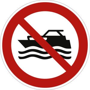 Maschinenbetriebene Boote verboten nach ISO 20712-1 (WSP 009)