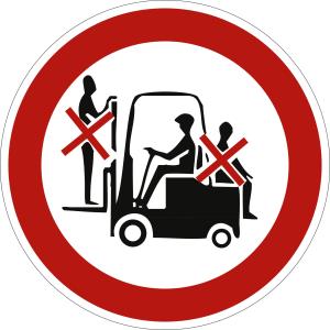Mitfahren verboten