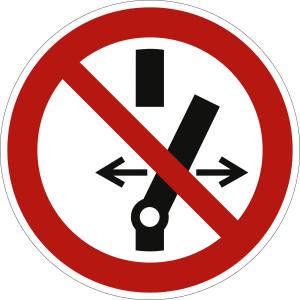 Schalten verboten nach ISO 7010 (P 031)