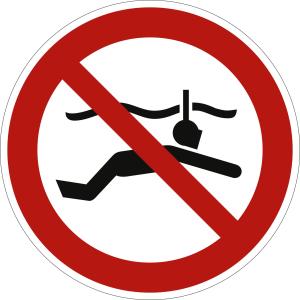 Schnorcheln verboten nach ISO 20712-1 (WSP 003)