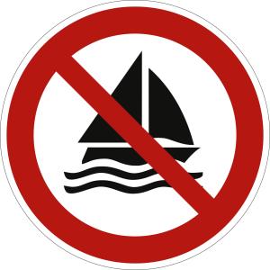 Segeln verboten nach ISO 20712-1 (WSP 006)