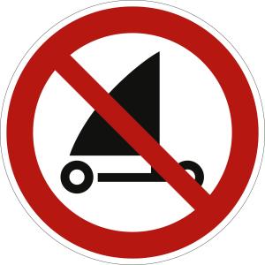 Strandsegeln verboten nach ISO 20712-1 (WSP 020)