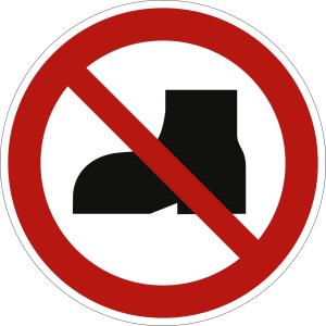 Tragen von Straßenschuhen verboten nach ISO 20712-1 (WSP 013)