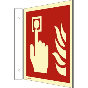 Fahnenschild Brandmelder nach DIN EN ISO 7010