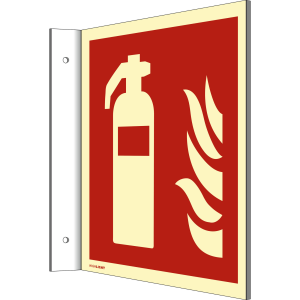 Fahnenschild Feuerlöscher nach DIN EN ISO 7010