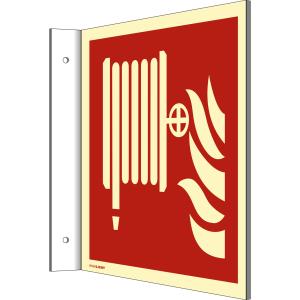 Fahnenschild Löschschlauch nach DIN EN ISO 7010