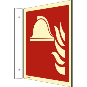 Fahnenschild Mittel und Geräte zur Brandbekämpfung nach DIN EN ISO 7010