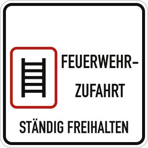 Feuerwehrzufahrt ständig freihalten (Variante III)