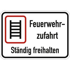 Feuerwehrzufahrt ständig freihalten (Variante II)