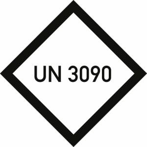 Gefahrzettel mit UN-Nummer