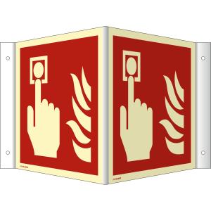 Nasen-/Winkelschild Brandmelder (ISO 7010)