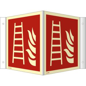 Nasen-/Winkelschild Feuerleiter (ISO 7010)