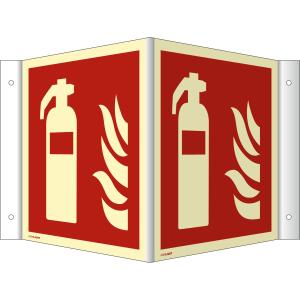 Nasen-/Winkelschild Feuerlöscher (ISO 7010)