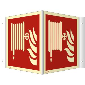 Nasen-/Winkelschild Löschschlauch (ISO 7010)