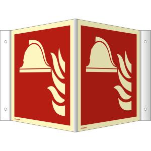 Nasen-/Winkelschild Mittel und Geräte zur Brandbekämpfung (ISO 7010)