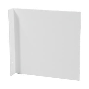 Fahnenschild neutral für Wandmontage