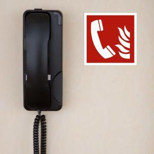 Schild Brandmeldetelefon