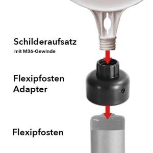 Adapter für Leitschwellen-Flexipfosten klein