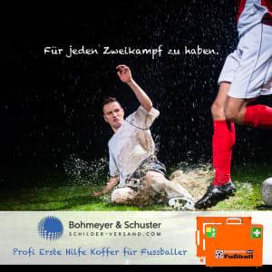 Erste-Hilfe-Koffer-Fussball Zweikampf