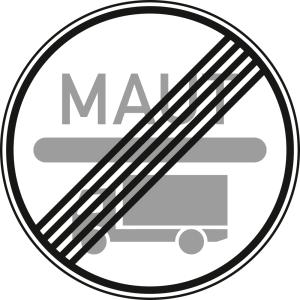 Ende der Mautpflicht nach dem Bundesfernstraßenmautgesetz - Verkehrszeichen VZ 390.2