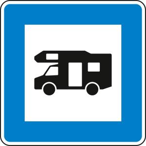 Wohnmobilplatz - Verkehrsschild VZ 365-67