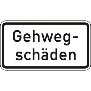 Gehwegschäden - Verkehrsschild VZ 2009