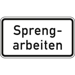 Sprengarbeiten - Verkehrsschild VZ 1007-36