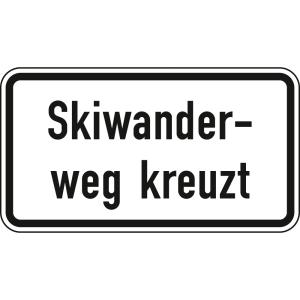 Skiwanderweg kreuzt - Verkehrsschild VZ 1007-56