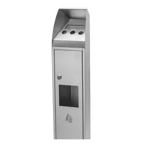 Abfallbehälter inkl. Ascher BLOCK - Inhalt 0,6 + 4 Liter