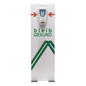 MADRID Silver Line Desinfektionsmittelaufsteller