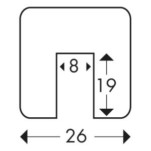 Warnprofile KNUFFI Typ G, Kantenschutz - rechteckig