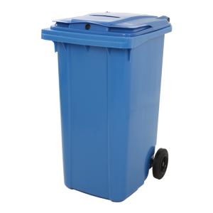 Mülltonne MINI CONTAINER mit Papierschlitz und Schloss - Inhalt 240 Liter