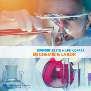 Erste-Hilfe-Koffer Labor und Chemie DIN 13157 / ASR A4.3 - Söhngen® Beruf Spezial