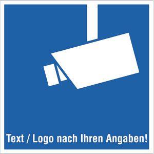 Praxisbewährtes Video-Infozeichen mit Text und/oder Logo nach Ihren Angaben