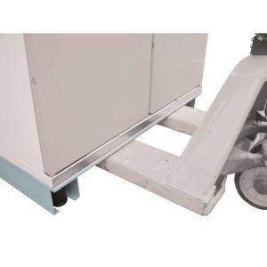 Unterfahrbarer Sockel für Sicherheits-Fass-Schrank