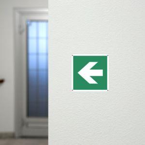 Richtungsangabe links/rechts nach ISO 7010, ISO 3864