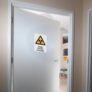 Kombischild Röntgen - Kein Zutritt für Unbefugte