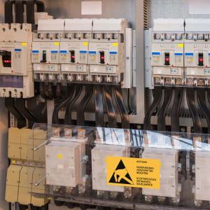 Warnetiketten Elektrostatisch gefährdete Bauelemente