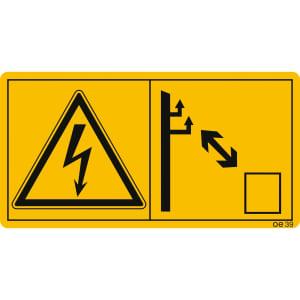 Ausreichenden Abstand zu elektrischen Hochspannungsleitungen halten