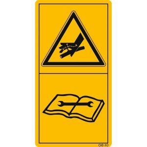 Vorsicht bei austretender Hochdruckflüssigkeit. Hinweis im technischen Handbuch beachten.