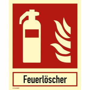 Feuerlöscher mit Schriftzug nach ISO 7010