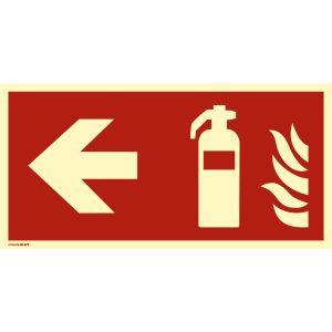 Kombischild Feuerlöscher links nach ISO 7010