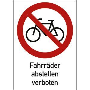 Kombischild Fahrräder abstellen verboten