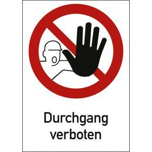 Kombischild Durchgang verboten (ISO 7010)