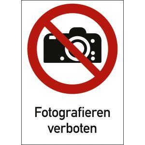 Kombischild Fotografieren verboten (ISO 7010)